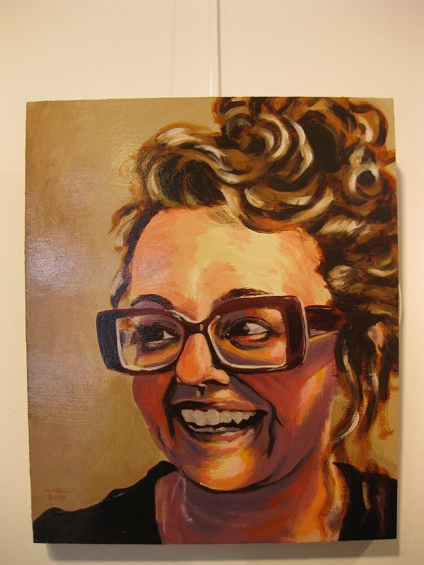 Acrylic painting Michelle Lacombe by Graham Hall