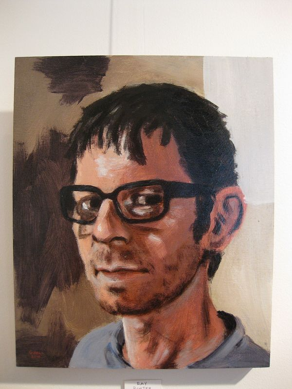 Acrylic painting Ray Punter by Graham Hall
