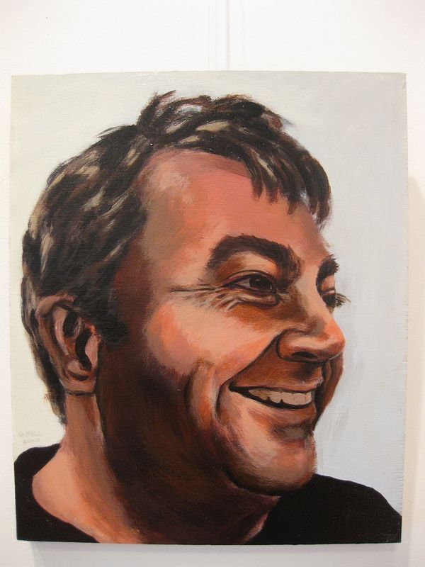 Acrylic painting Edwin Janzen by Graham Hall