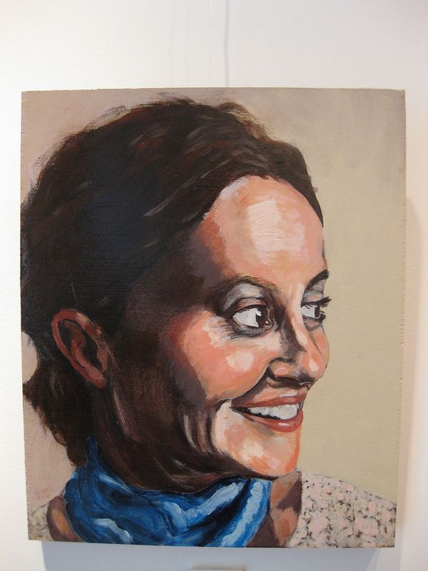 Acrylic painting Esme Terry by Graham Hall