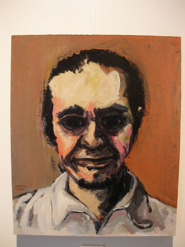Acrylic painting Carl Ruttan by Graham Hall