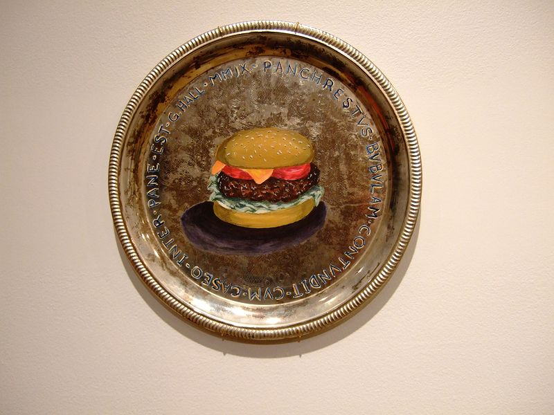 Acrylic painting A Cheeseburger is Good For Everything by Graham Hall