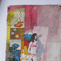 Mixed-media artwork Untitled Collage by Graham Hall