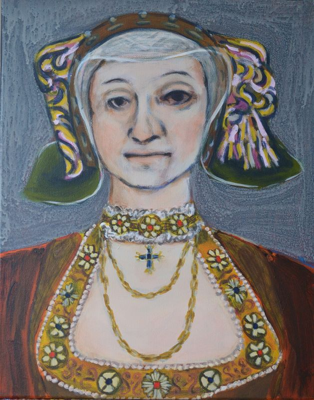 Acrylic painting Anne of Cleves, after Holbein by Graham Hall