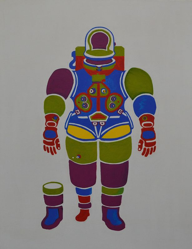 Acrylic painting Moon Suit '68 by Graham Hall