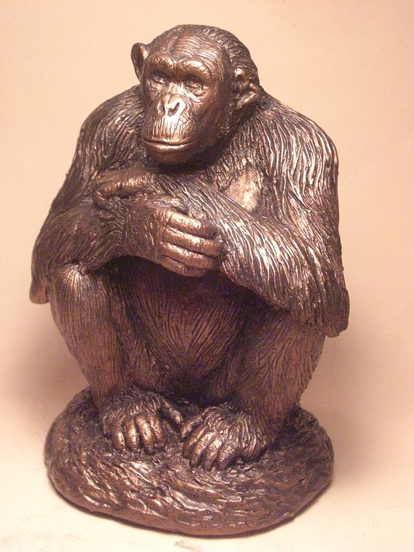 Negra Chimpanzee Sculpture    by Jason  Shanaman