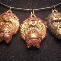 Center for great apes pendant set bronze finish by Jason  Shanaman