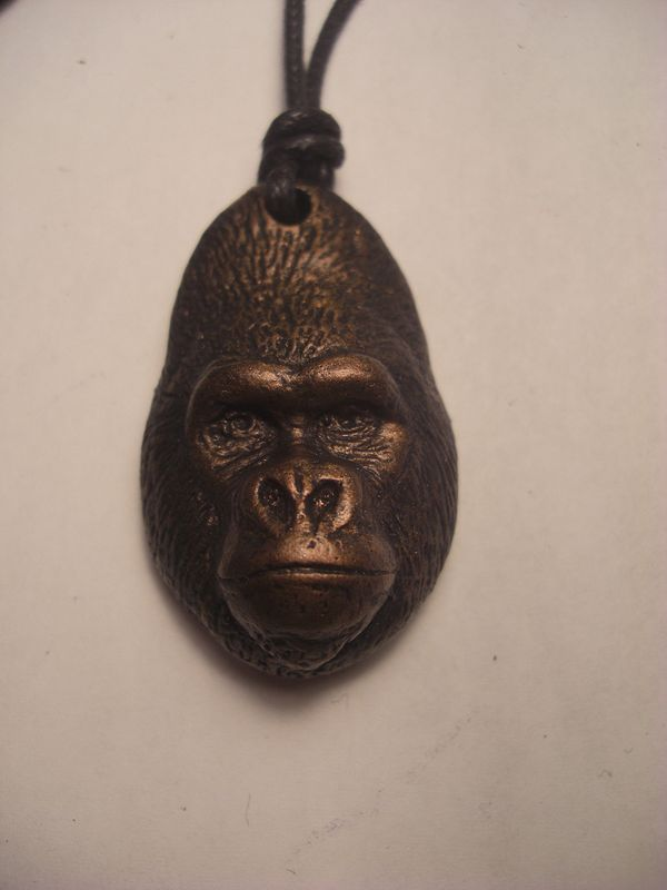 Western lowland gorilla bronze finish by Jason  Shanaman