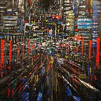 Acrylic painting Urban Rhythms #1 by David Tycho
