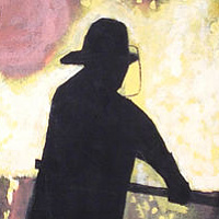 Acrylic painting Steelworker by Bernard Scanlan