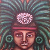 Acrylic painting Connection to the Ancestors by Emily K. Grieves