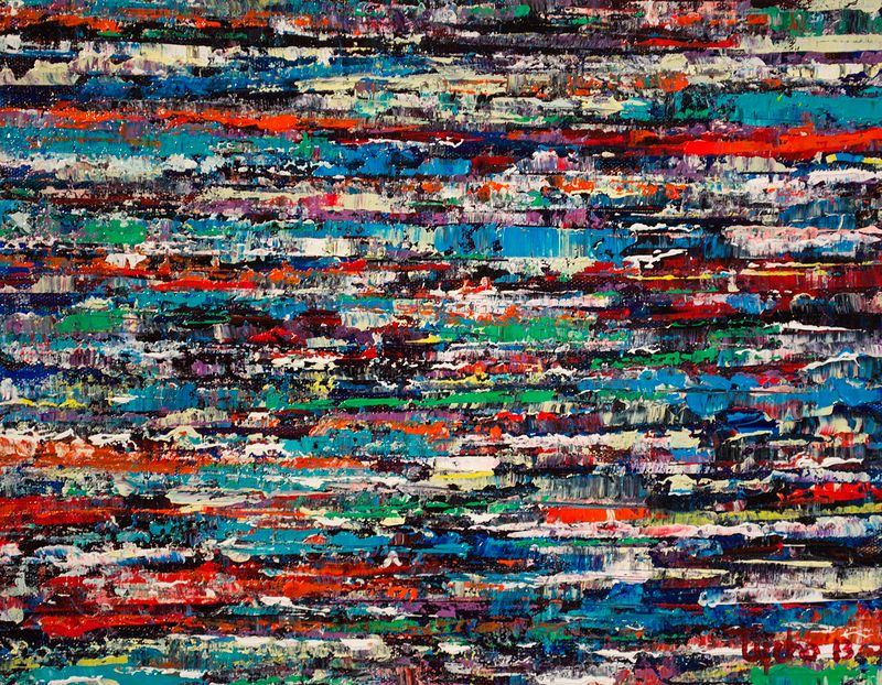 Acrylic painting Urban Rhythms #7  by David Tycho