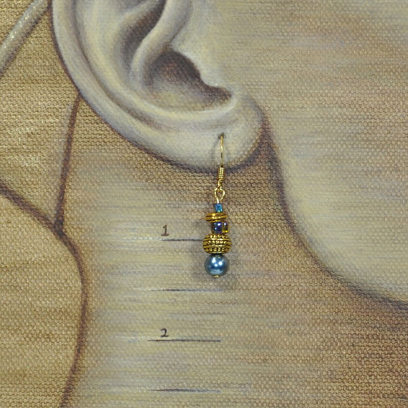Blue Satin Gold, showing length by Sue Ellen Brown