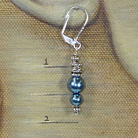 Blue Satin Silver, showing length by Sue Ellen Brown