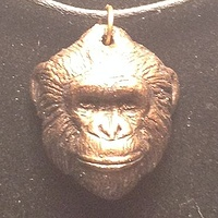 Herbie Chimpanzee pendant chimps inc. by Jason  Shanaman