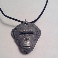 Knuckles CGA pendant light cold cast pewter by Jason  Shanaman