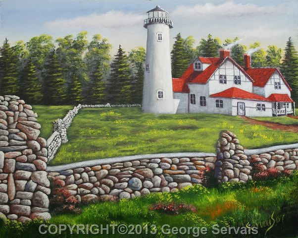Acrylic painting Iriquois Lighthouse by George Servais