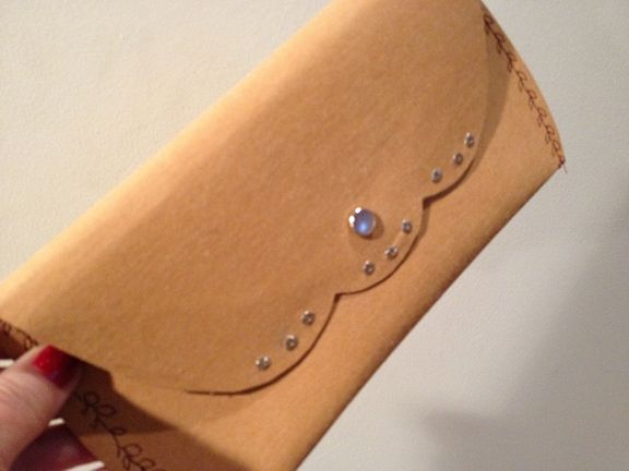 Faux Leather Clutch by Vicki Allesia