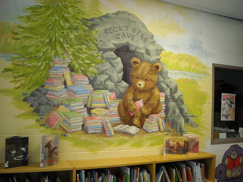 Painting Redstone P.S.  - Library - Beck's Bear Cave  by Cindy Scaife