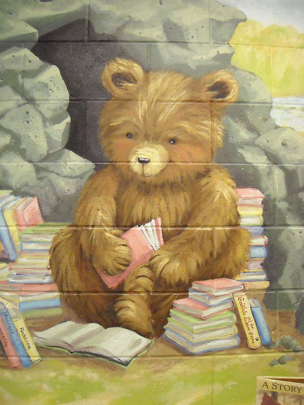 Painting Redstone P.S.  - Library - Beck's Bear Cave - Detail by Cindy Scaife
