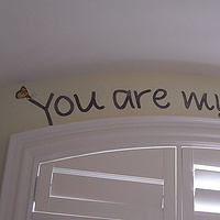 Acrylic painting You are my Sunshine - Hand Lettered by Cindy Scaife