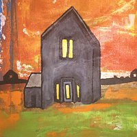 Acrylic painting Dream House by Bernard Scanlan