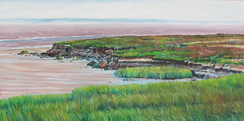 Oil painting Low Tide Along the Shore by Michael McEwing