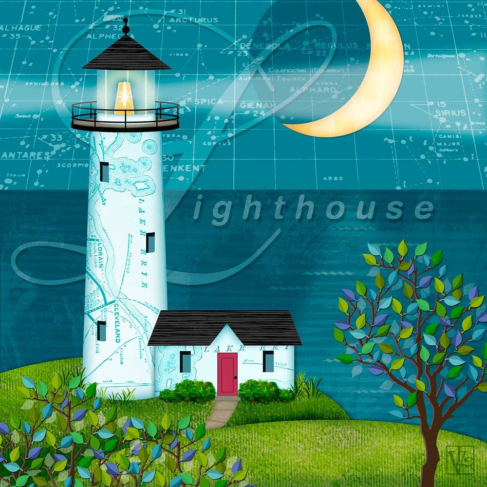 L is for Lighthouse by Valerie Lesiak