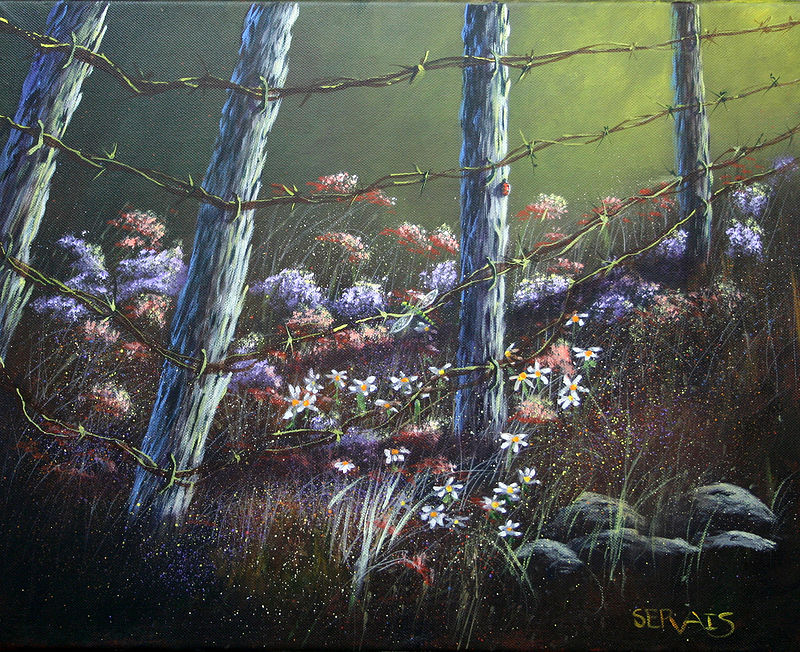 Acrylic painting The Flower Patch by George Servais