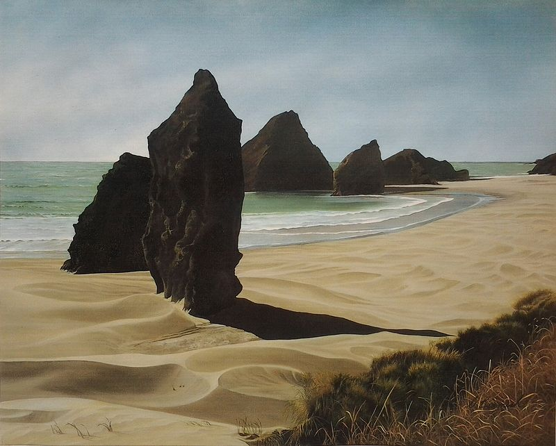 Oil painting Oregon Coast Giants SOLD by Vicki Beamish