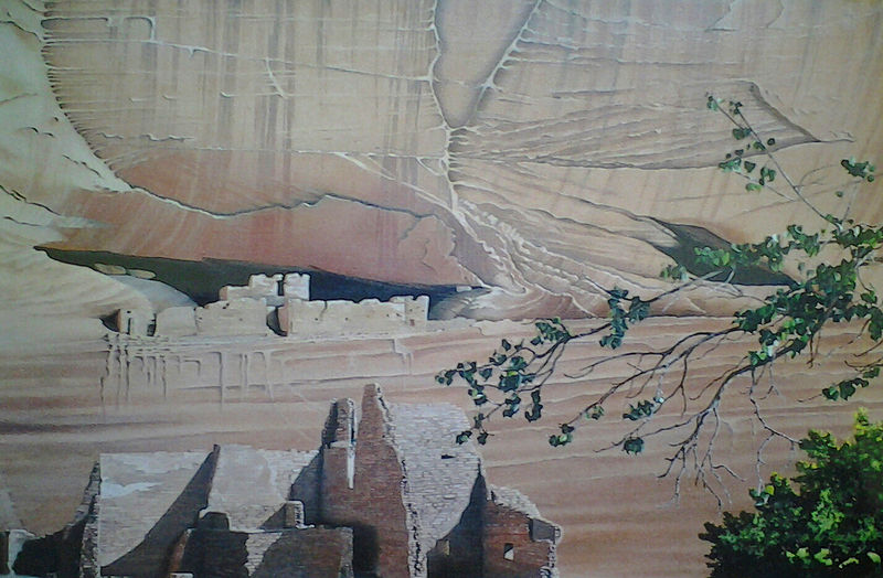 Oil painting White House Ruins at Canyon De Chelly SOLD by Vicki Beamish