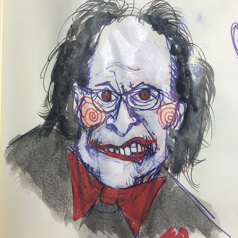 Drawing cheeney by Joey Feldman