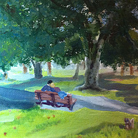 Oil painting Last Days of Summer by Anastasia O'melveny