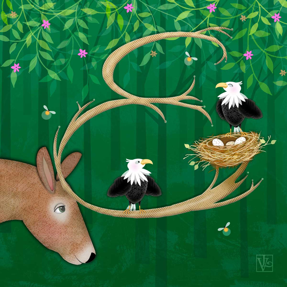 E is for Elk and Eagles by Valerie Lesiak