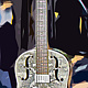 Drawing SILVER GUITAR by Joeann Edmonds-Matthew