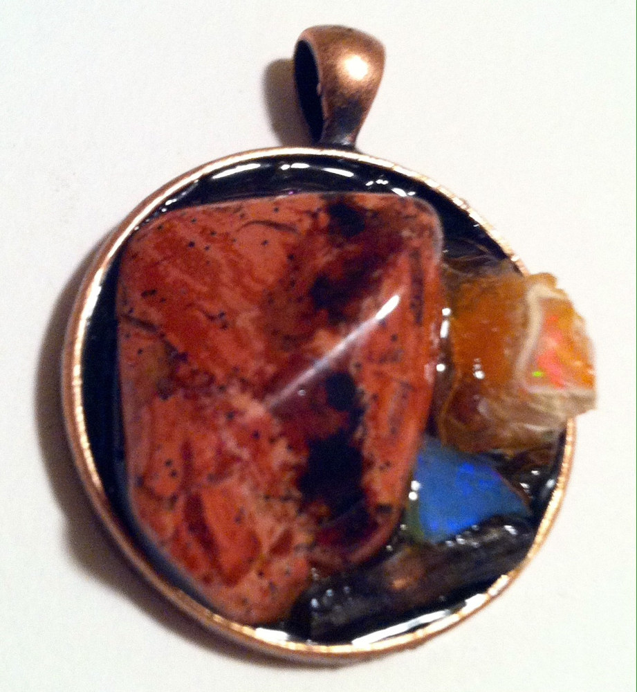 Copper Bezel Pendant by Isaac Carpenter