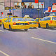 Watercolor 12:12 Taxis by Travis Poelle