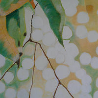 Acrylic painting Four Leaves by Gwenda Branjerdporn