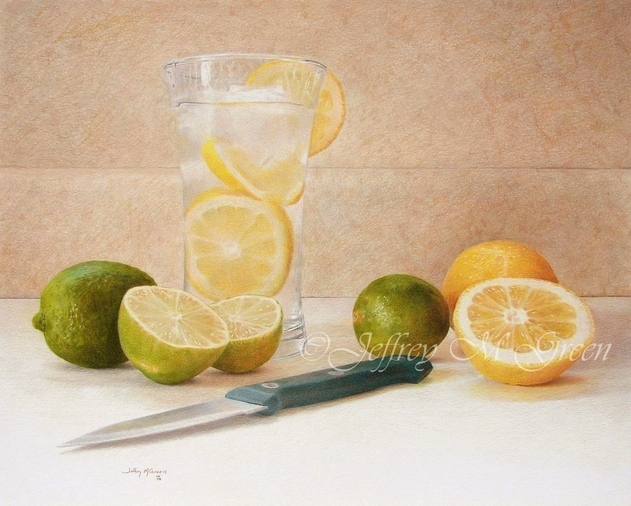 "© Jeffrey M Green. ""Halved"", 16x20"", colored pencils. by Jeffrey Green"