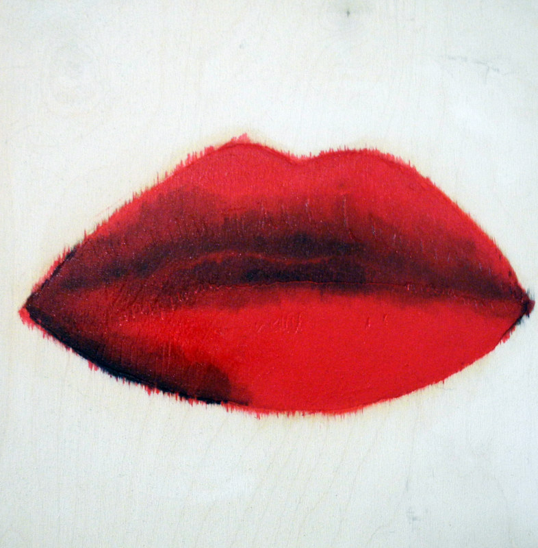 Oil painting Those Lips, 2012 by Edith dora Rey