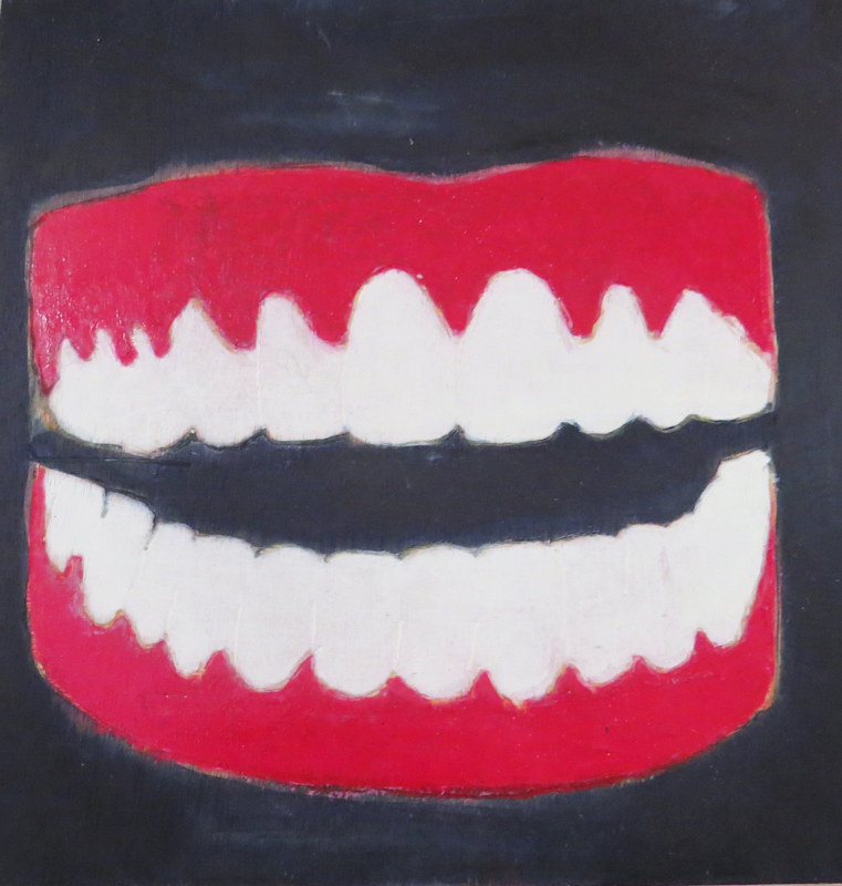 Oil painting He Gave Me Teeth, 2012 by Edith dora Rey