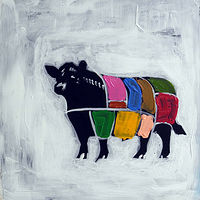 Oil painting Beef Cow I, 2013 by Edith dora Rey