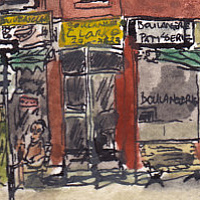 Drawing St. Viateur and Clark by Graham Hall