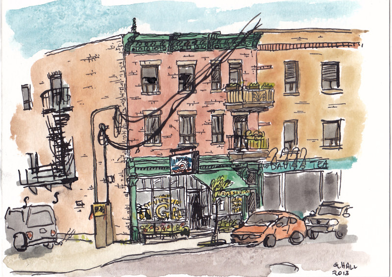 Drawing St. Viateur by Graham Hall