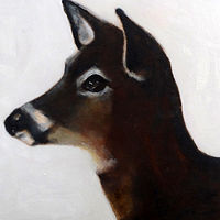 Oil painting Highwater Deer, 2015 by Edith dora Rey