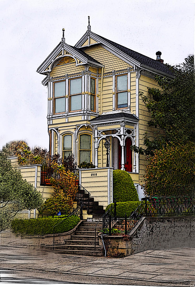 SAN FRANCISCO VICTORIAN by Joeann Edmonds-Matthew