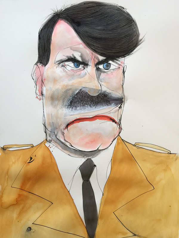Mixed-media artwork adolf hitler by Joey Feldman
