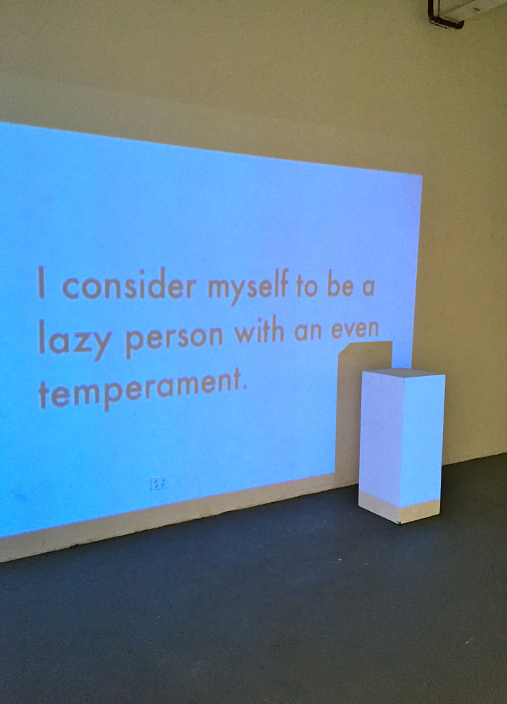 I consider myself to be a lazy person with an even temperament.  by Jaye Early