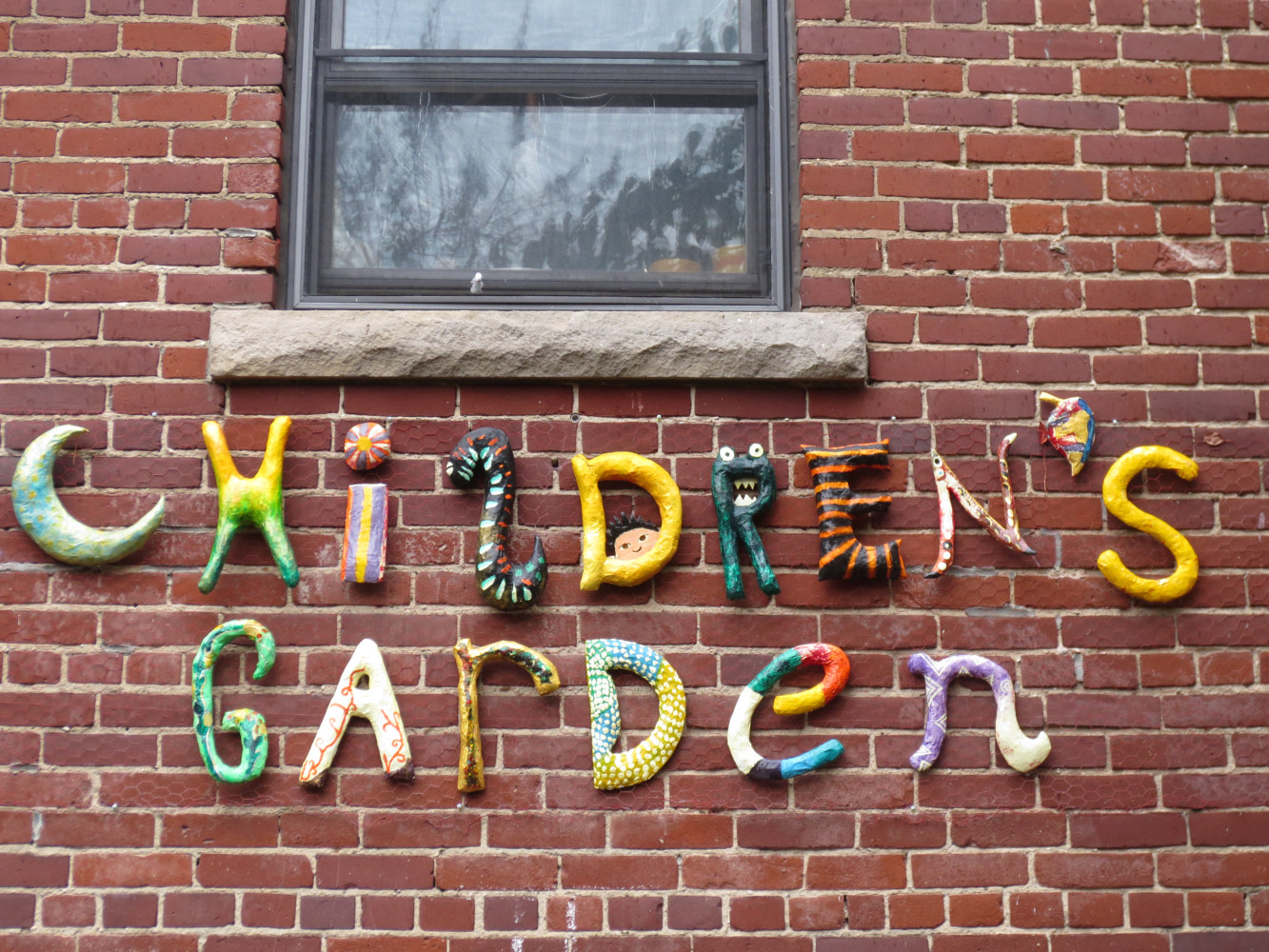 Sculpture Garden Sign Sculpture - Childrens Garden - Bain Cooperative Housing by Pamela Schuller