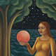 Pink Moon, oil on canvas, 8 x 10 in, ©2010 Laurey Foulkes by Laurey  Foulkes